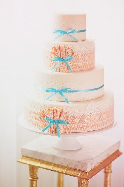 Ślub i wesele w stylu vintage, tort