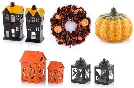 Dekoracje, lampiony i świece na Halloween